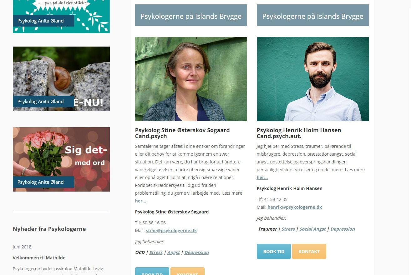 Klinikfællesskab, psykolognetværk, forsidebanner, psykolog københavn, psykologerne